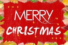 Merry Christmas splash card Royalty Free Stock Image