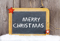 Christmas Greetings old Slate Chalkboard Royalty Free Stock Photo