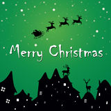 Christmas greetings postcard Stock Image