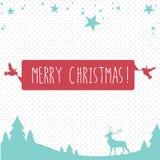 Christmas greetings postcard Royalty Free Stock Image