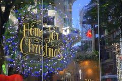 Christmas greetings in Saigon royalty free stock photo