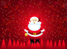 Christmas Greetings with Santa-Vector Royalty Free Stock Photography