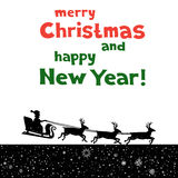 Christmas Greetings from Santa Stock Images
