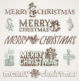 Christmas greetings and signs Stock Photo