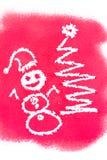 Christmas greetings, spray painted Royalty Free Stock Photo
