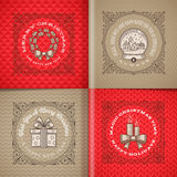 Christmas greetings and symbols Stock Photography