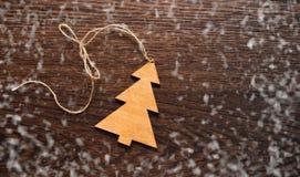 Christmas greting card. Handmade decoration Christmas tree Stock Image