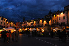 Christmas in Greve in Chianti near Florence Stock Images
