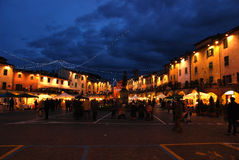 Christmas in Greve in Chianti near Florence Royalty Free Stock Photos