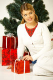 Christmas Gril Stock Image
