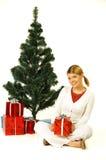 Christmas Gril Stock Photos