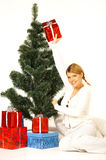 Christmas Gril Royalty Free Stock Images