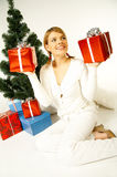 Christmas Gril Stock Photo