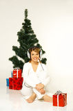 Christmas Gril Stock Images