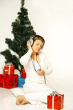 Christmas Gril Royalty Free Stock Image