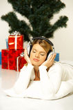 Christmas Gril Royalty Free Stock Photography