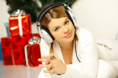 Christmas Gril Stock Photography