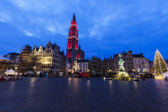 Christmas on Grote Markt in Antwerp Royalty Free Stock Photos