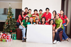 Christmas group shot of Asian people Stock Image