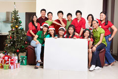 Christmas group shot of Asian people Stock Photo