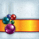 Christmas grunge background with decorations Stock Photos