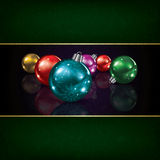Christmas grunge background with decorations Royalty Free Stock Image