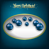 Christmas grunge background with decorations Stock Images
