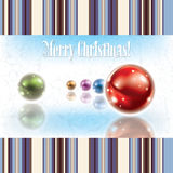 Christmas grunge background with decorations Stock Photography
