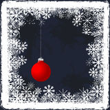 Christmas grunge background with frozen windows and Christmas ba Royalty Free Stock Images