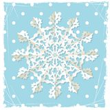 Christmas grunge background with origami snowflake Royalty Free Stock Photos