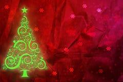 Christmas grunge background. Christmas tree retro grunge background, tree illustration Royalty Free Stock Image