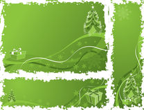Christmas grunge frame, elements for design, vector Royalty Free Stock Image