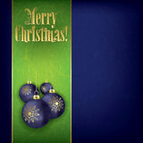 Christmas grunge greeting with decorations Royalty Free Stock Image
