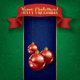 Christmas grunge greeting with decorations Stock Photo