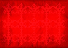 Christmas grunge snowflake background. Red christmas grunge snowflake background with copy space Stock Image
