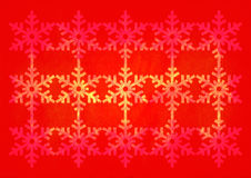 Christmas grunge snowflake pattern. Red and yellow christmas grunge snowflake pattern stock images