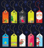 Christmas grunge tags. Royalty Free Stock Photo