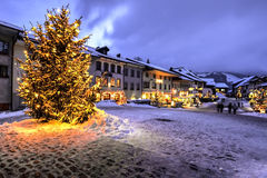 Christmas in Gruyere, Switzerland Stock Image