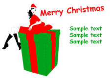 Christmas gteeeting card Royalty Free Stock Photography
