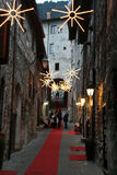 Christmas in gubbio Stock Image