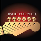 Christmas Guitar Background Royalty Free Stock Photo