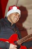 Christmas guitar Royalty Free Stock Image