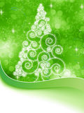 Christmas halftone tree on a green. EPS 8 Royalty Free Stock Images