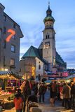 Christmas in Hall in Tirol, Austria Royalty Free Stock Photography