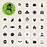 Christmas & Halloween icon set Royalty Free Stock Image