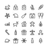 Christmas, Halloween, Party and Celebration Line Vector Icons 3 Stock Photo