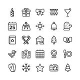 Christmas, Halloween, Party and Celebration Line Vector Icons 5 Royalty Free Stock Photos