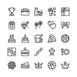 Christmas, Halloween, Party and Celebration Line Vector Icons 17 Royalty Free Stock Photography