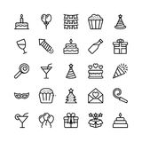 Christmas, Halloween, Party and Celebration Line Vector Icons 19 Stock Image