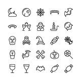 Christmas, Halloween, Party and Celebration Line Vector Icons 21 Royalty Free Stock Image